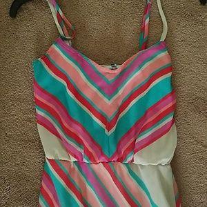 XS  multi colored maxi dress